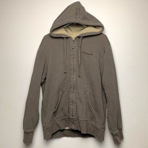 Timberland brown zip up heavy hoodie